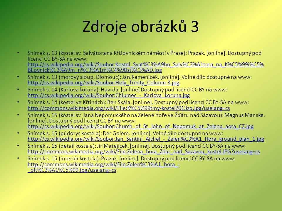 Zdroje obrázků 3 Snímek s.13 (kostel sv. Salvátora na Křižovnickém náměstí v Praze): Prazak.