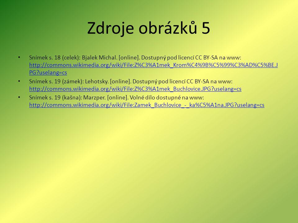 Zdroje obrázků 5 Snímek s.18 (celek): Bjalek Michal.