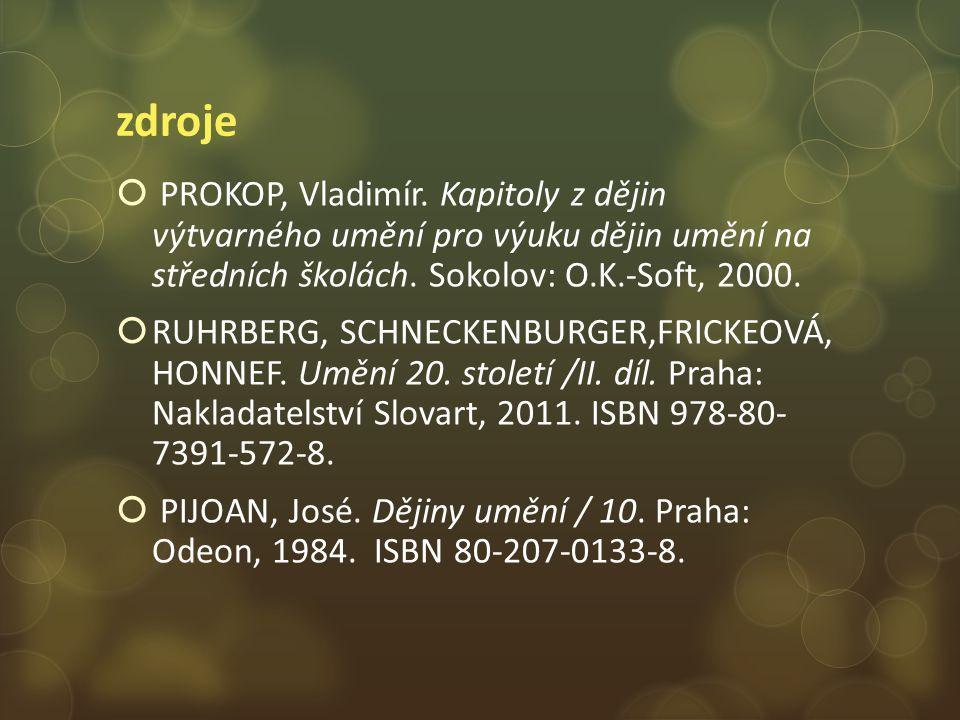 zdroje  PROKOP, Vladimír.