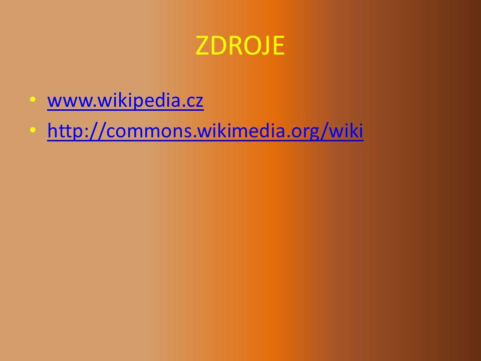 ZDROJE www.wikipedia.cz http://commons.wikimedia.org/wiki