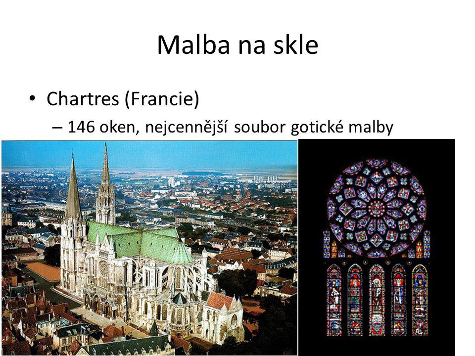 Malba na skle Chartres (Francie) – 146 oken, nejcennější soubor gotické malby