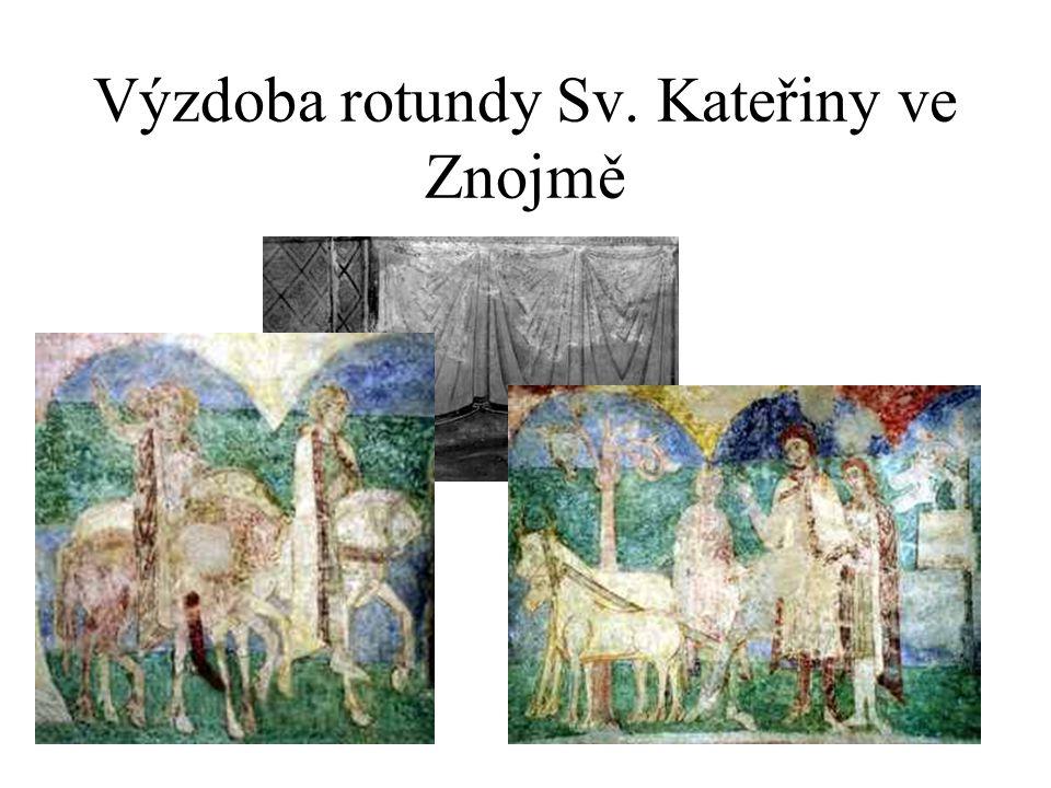 Výzdoba rotundy Sv. Kateřiny ve Znojmě
