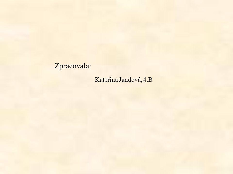 Zpracovala: Kateřina Jandová, 4.B