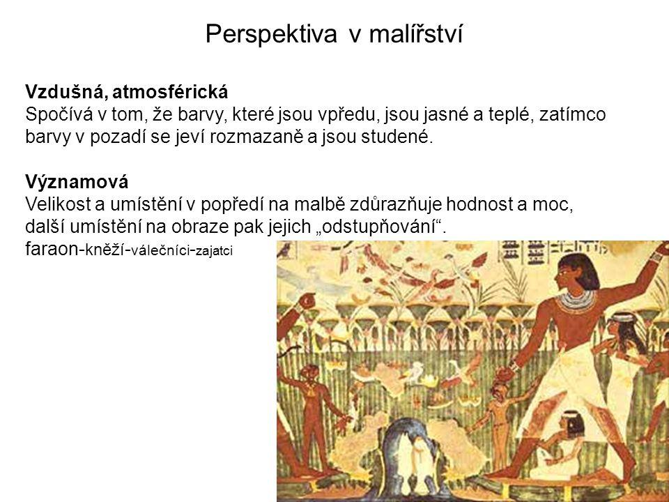 Perspektiva v malířství Obrácená (Ivan Mládek) je konstruována vzhledem k úběžníku, který leží před plochou obrazu.