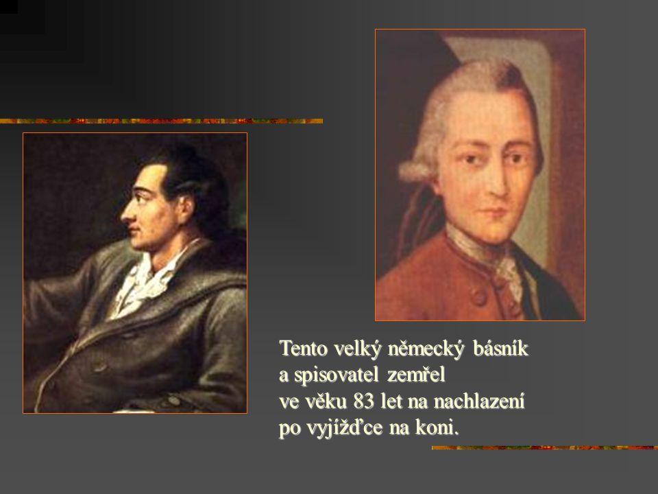 Mariánské Lázně Goethe se tady zamiloval do 17 leté Ulriky von Levetzow a požádal její maminku o ruku.