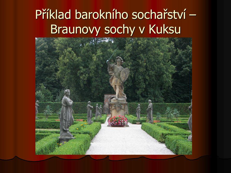 Příklad barokního sochařství – Braunovy sochy v Kuksu