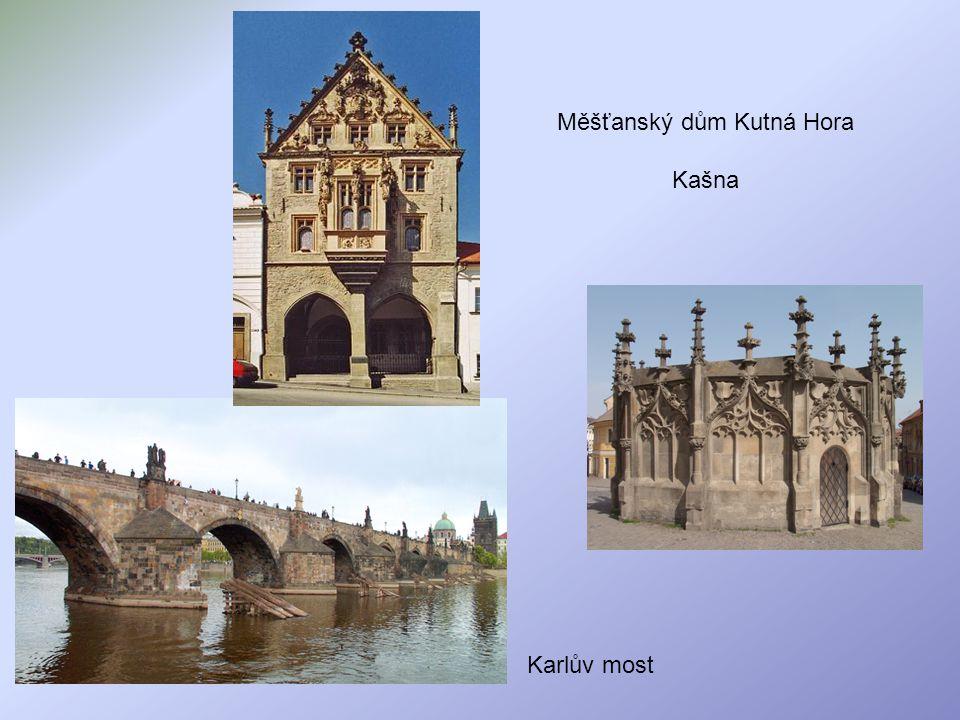 Měšťanský dům Kutná Hora Kašna Karlův most
