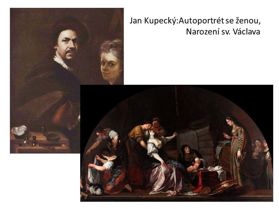 Jan Kupecký:Autoportrét se ženou, Narození sv. Václava