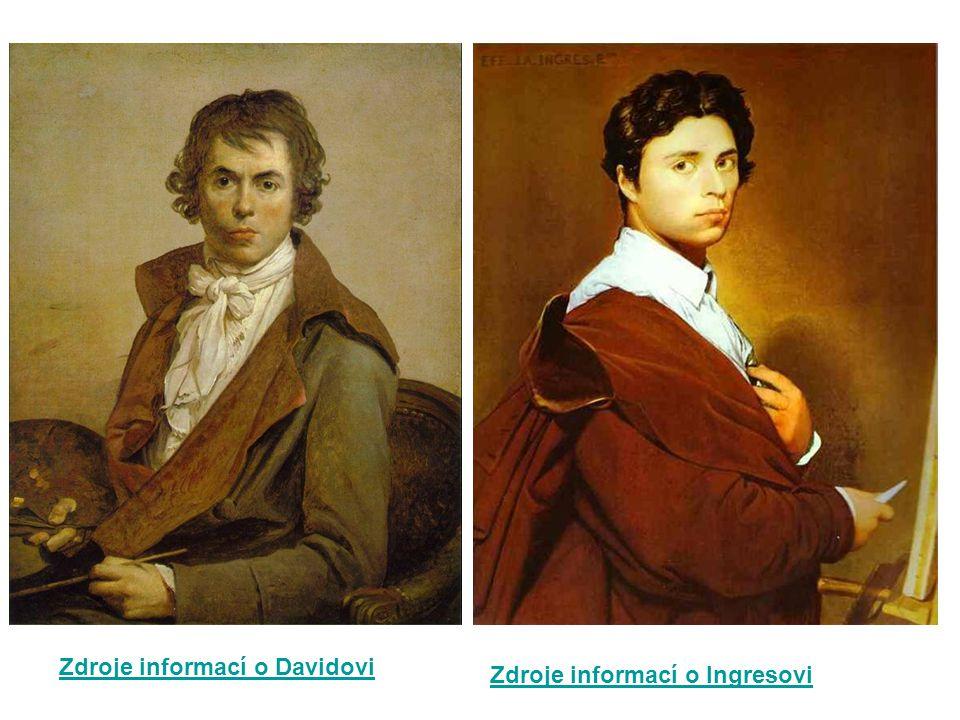 Zdroje informací o Davidovi Zdroje informací o Ingresovi
