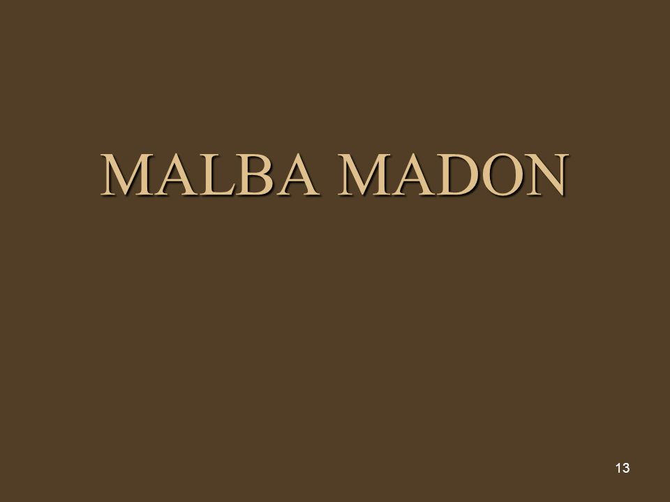 13 MALBA MADON
