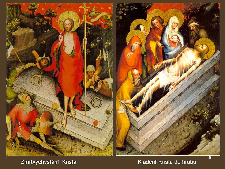 9 Zmrtvýchvstání Krista Kladení Krista do hrobu