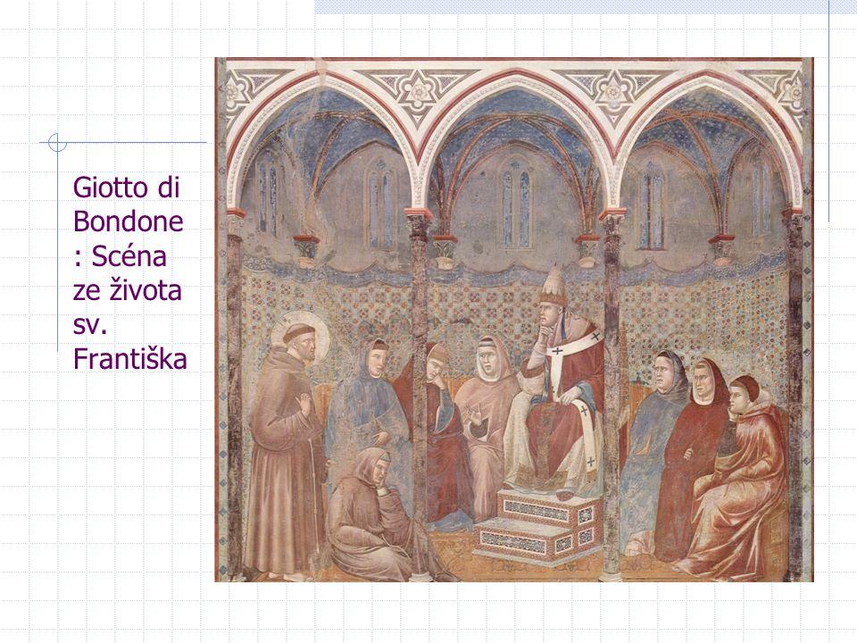 Giotto di Bondone : Scéna ze života sv. Františka