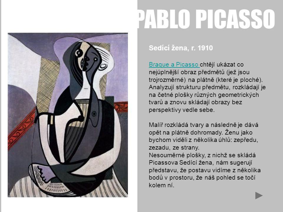 PABLO PICASSO Sedící žena, r.