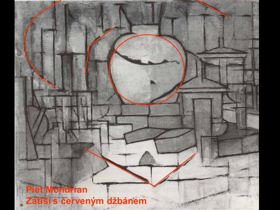 Piet Mondrian Zátiší s červeným džbánem