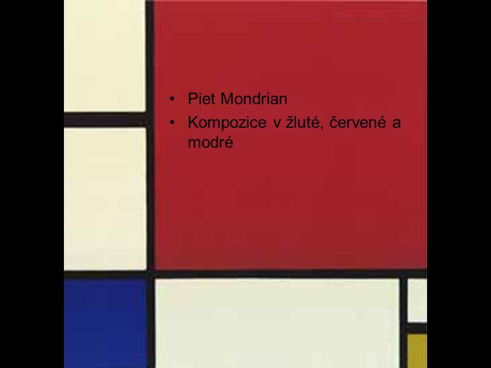 Piet Mondrian Kompozice v žluté, červené a modré