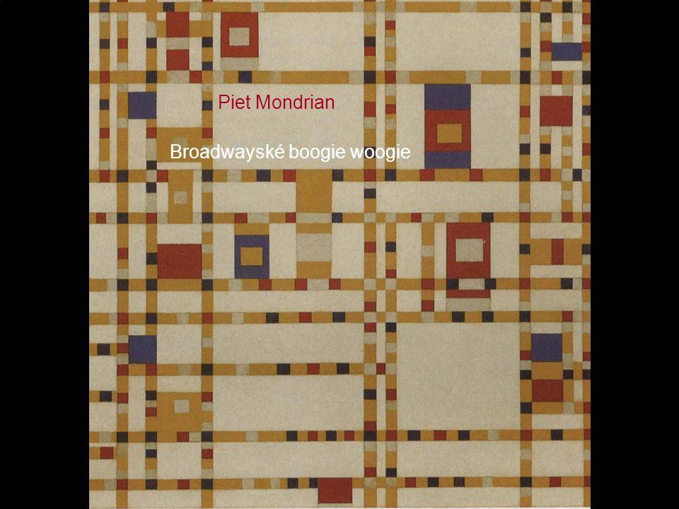 Piet Mondrian Broadwayské boogie woogie