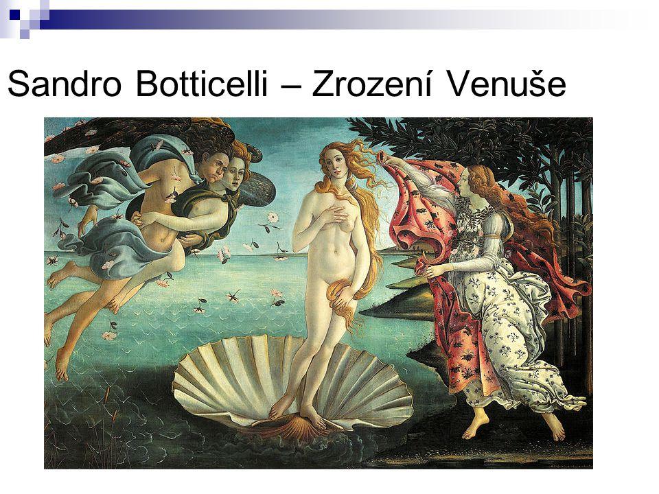 Sandro Botticelli – Zrození Venuše