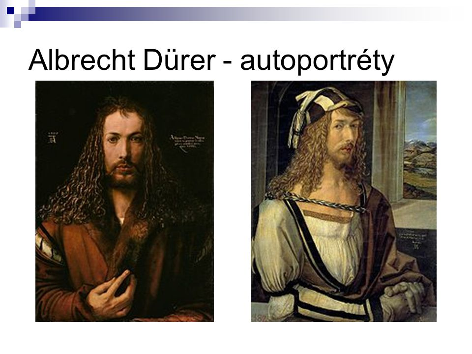 Albrecht Dürer - autoportréty