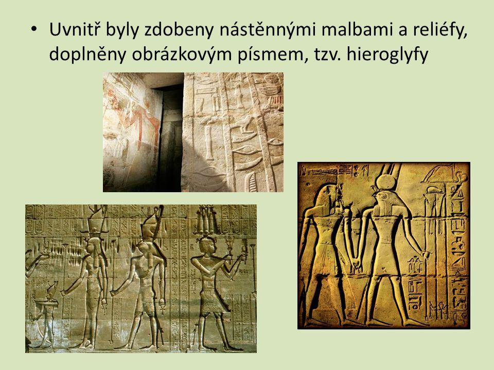 Nová říše – hrobky – chrámové komplexy tesané do skály – nejznámější v okolí města Théby – komplexy v Údolí králů, Luxoru a Karnaku