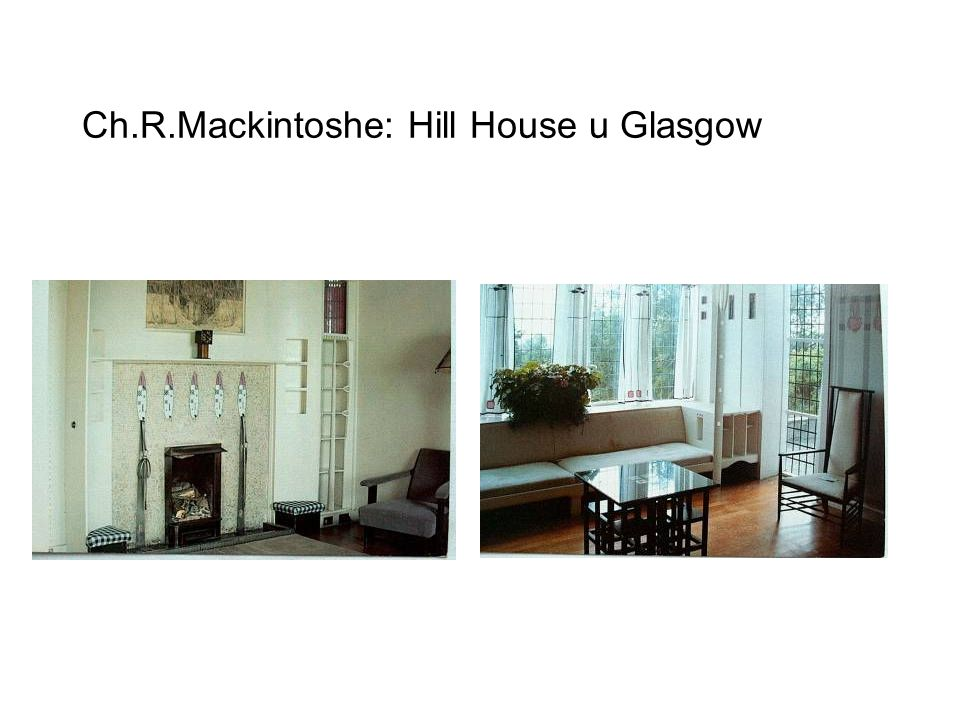 Ch.R.Mackintoshe: Hill House u Glasgow interiér