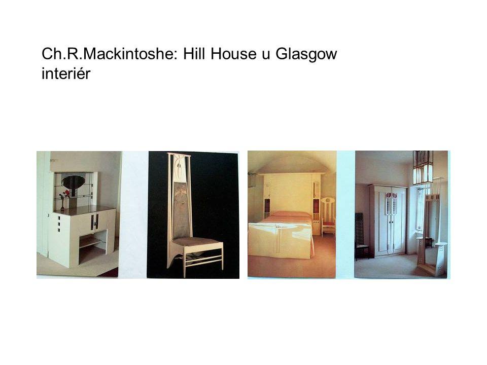 Ch.R.Mackintoshe: Hill House u Glasgow interiér