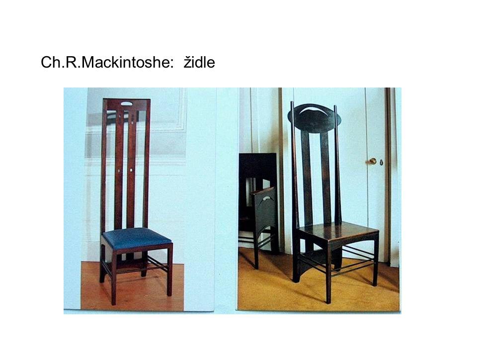Ch.R.Mackintoshe: židle