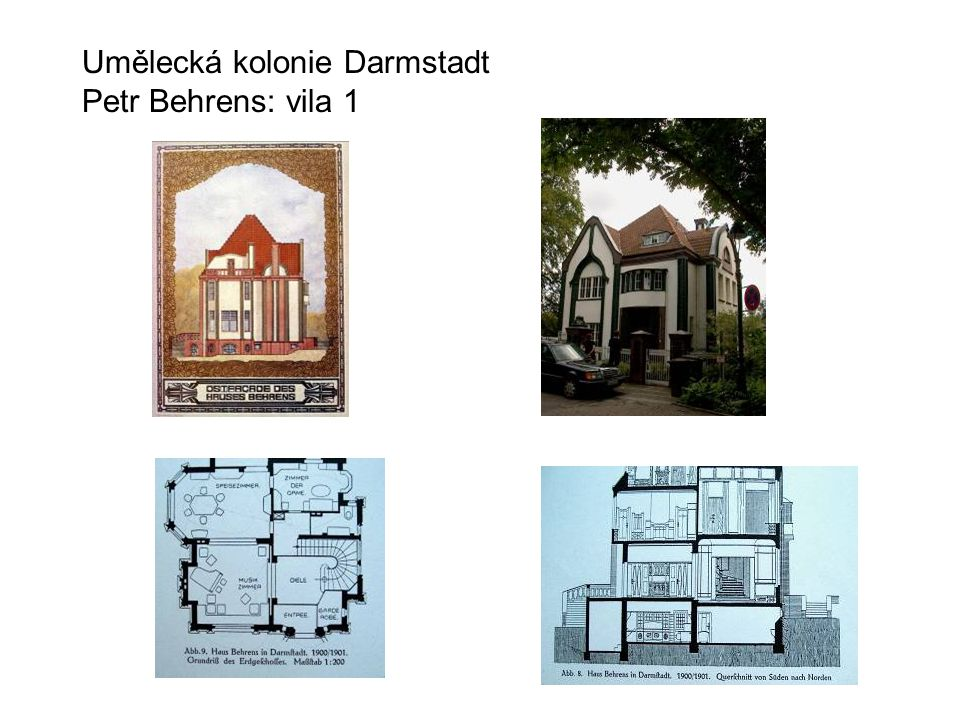 Umělecká kolonie Darmstadt Petr Behrens: vila 1