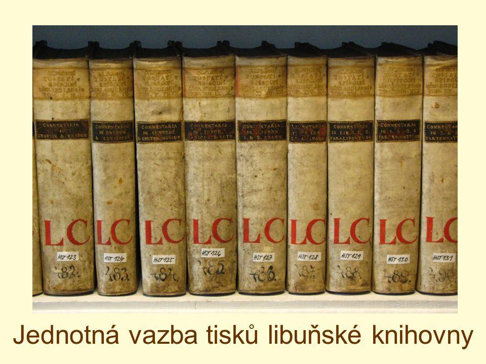 Jednotná vazba tisků libuňské knihovny