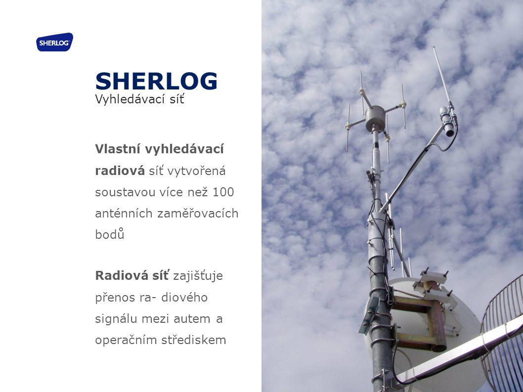 Vlastní vyhledávací radiová síť vytvořená soustavou více než 100 anténních zaměřovacích bodů Radiová síť zajišťuje přenos ra- diového signálu mezi aut