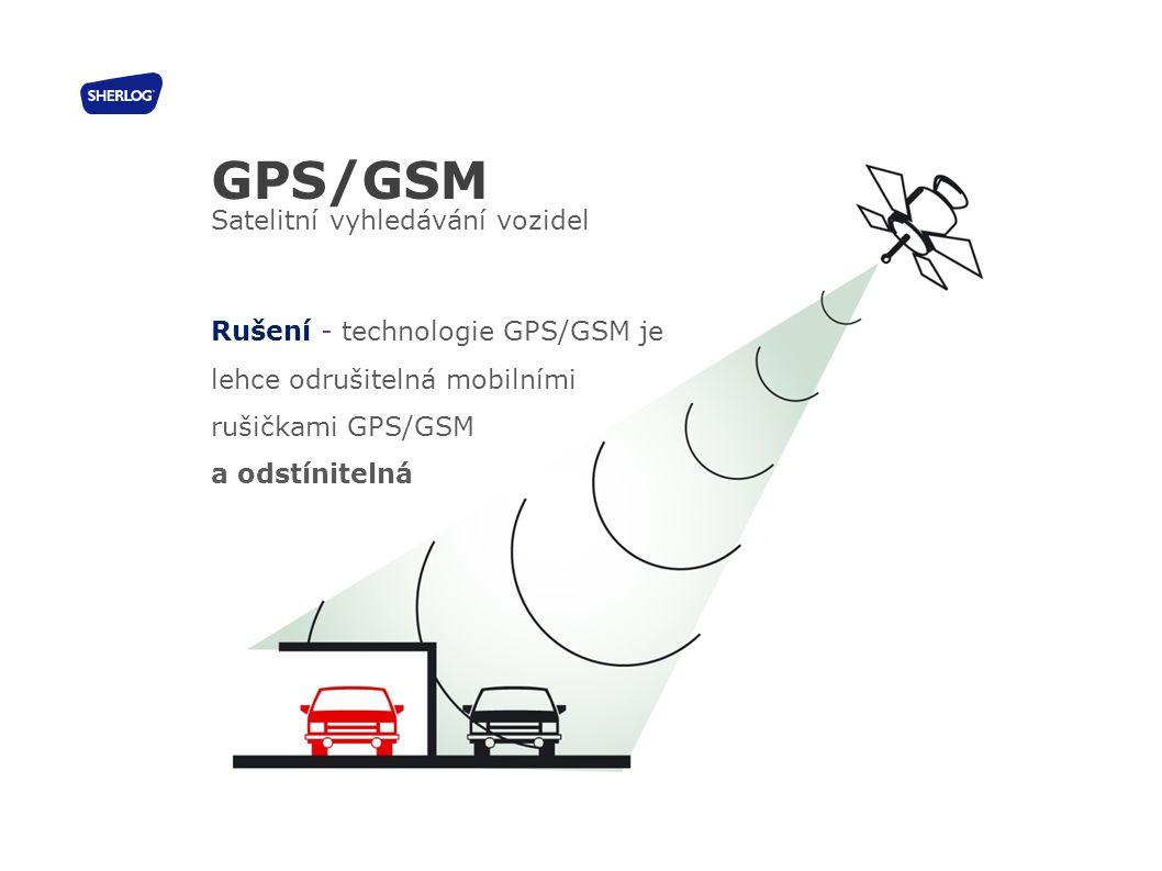 32 GPS/GSM Satelitní vyhledávání vozidel Rušení - technologie GPS/GSM je lehce odrušitelná mobilními rušičkami GPS/GSM a odstínitelná