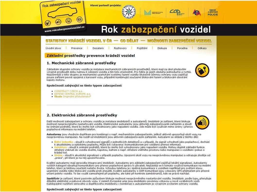 25 000 chráněných vozidel v České republice Systémy rádiového vyhledávání odcizených vozidel Dlouhodobá 98% úspěšnost Součinnost s Policií ČR SHERLOG SecurityCar 16