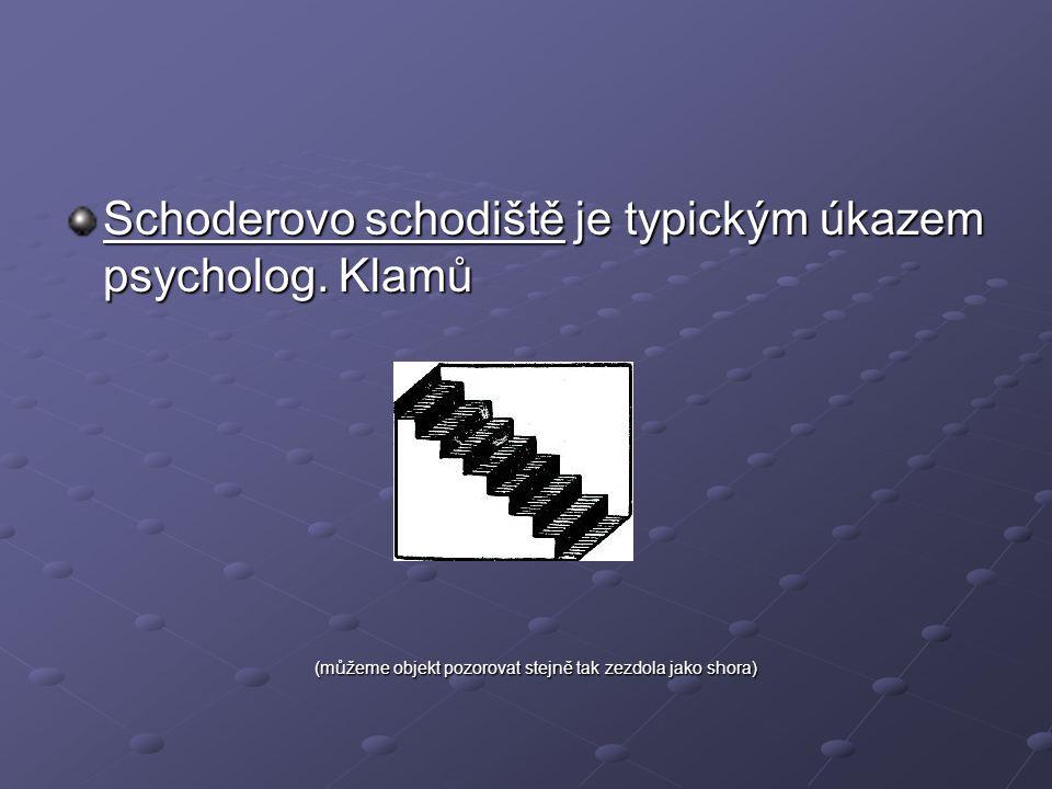 Schoderovo schodiště je typickým úkazem psycholog.