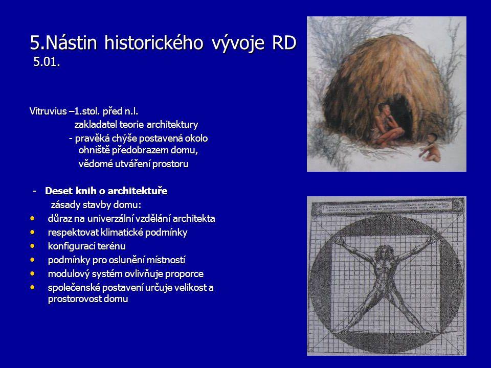 5.Nástin historického vývoje RD 5.01.Vitruvius –1.stol.