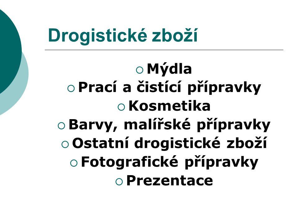 Obsah  1.Charakteristika drogistického zboží  2.