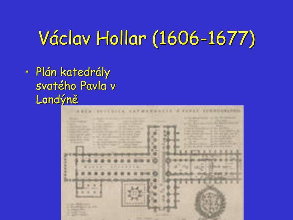 Václav Hollar (1606-1677) Plán katedrály svatého Pavla v LondýněPlán katedrály svatého Pavla v Londýně