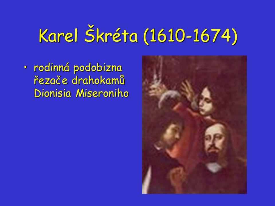 Karel Škréta (1610-1674) rodinná podobizna řezače drahokamů Dionisia Miseronihorodinná podobizna řezače drahokamů Dionisia Miseroniho