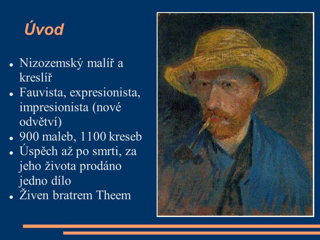 Úvod Nizozemský malíř a kreslíř Fauvista, expresionista, impresionista (nové odvětví) 900 maleb, 1100 kreseb Úspěch až po smrti, za jeho života prodán