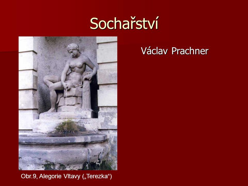 """Sochařství Václav Prachner Obr.9, Alegorie Vltavy (""""Terezka )"""