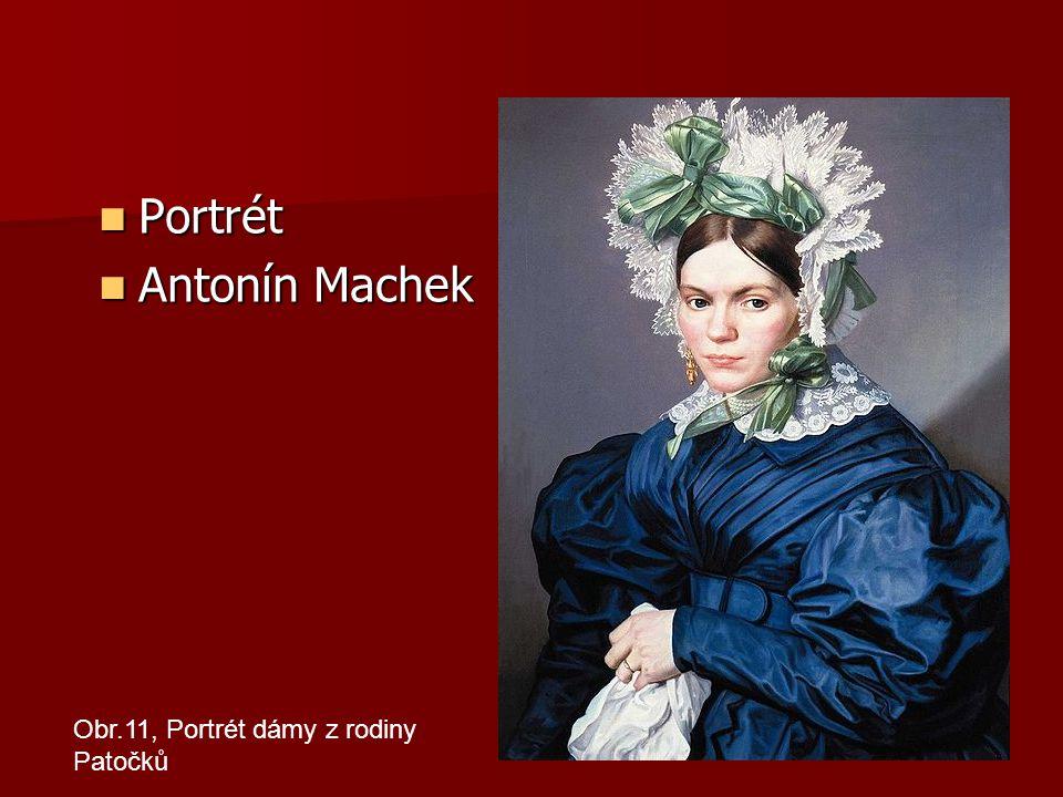 Portrét Portrét Antonín Machek Antonín Machek Obr.11, Portrét dámy z rodiny Patočků