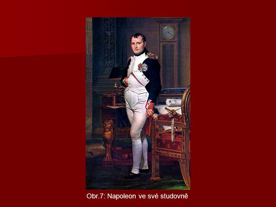 Obr.7: Napoleon ve své studovně