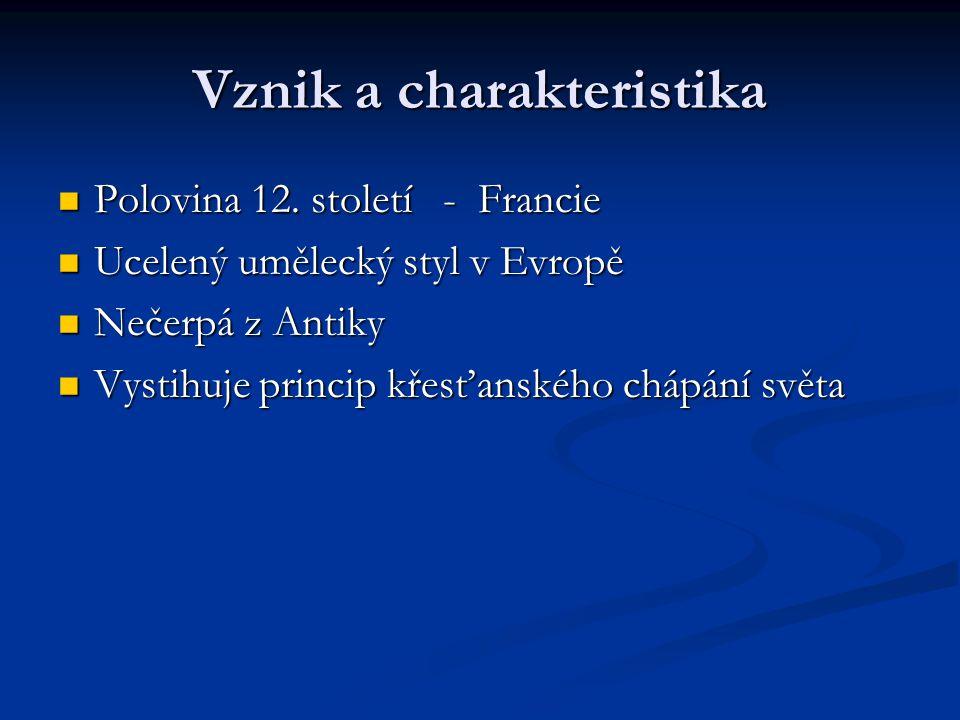 Vznik a charakteristika Polovina 12.století - Francie Polovina 12.