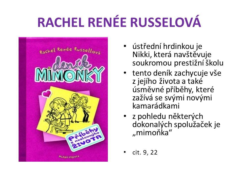 """RACHEL RENÉE RUSSELOVÁ ústřední hrdinkou je Nikki, která navštěvuje soukromou prestižní školu tento deník zachycuje vše z jejího života a také úsměvné příběhy, které zažívá se svými novými kamarádkami z pohledu některých dokonalých spolužaček je """"mimoňka cit."""