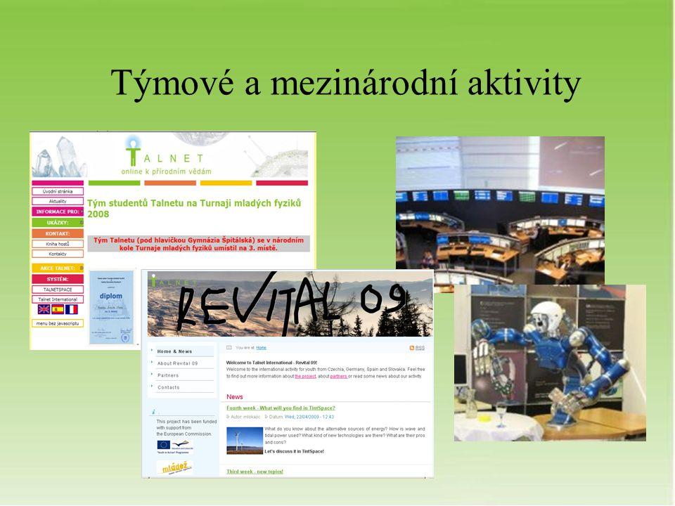 Týmové a mezinárodní aktivity
