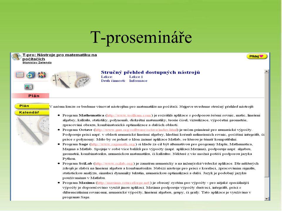 T-prosemináře