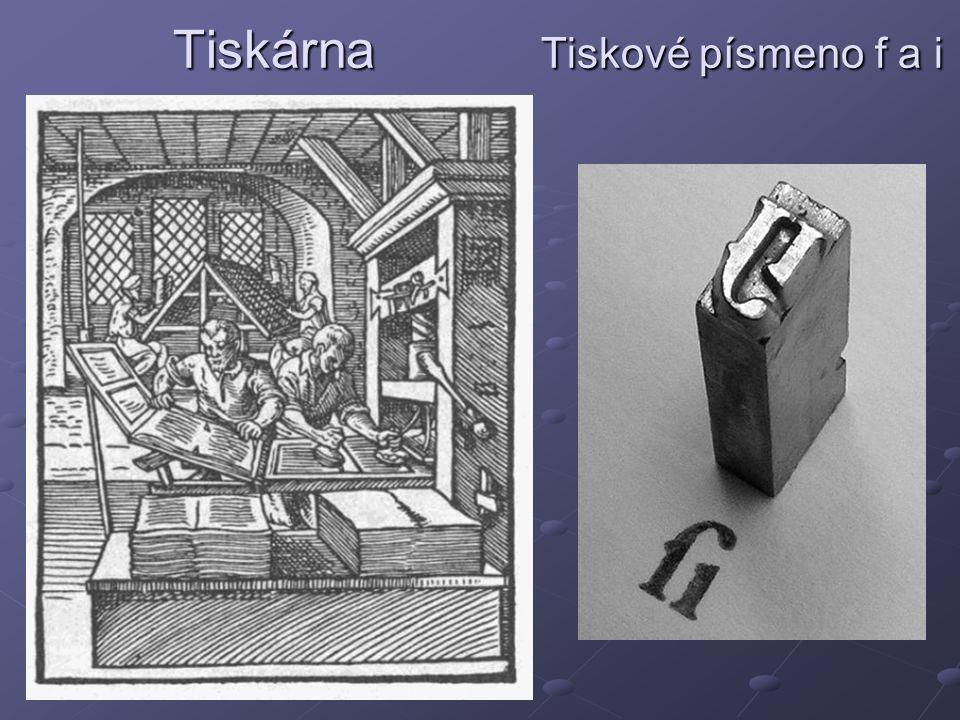Tiskárna Tiskové písmeno f a i Tiskárna Tiskové písmeno f a i