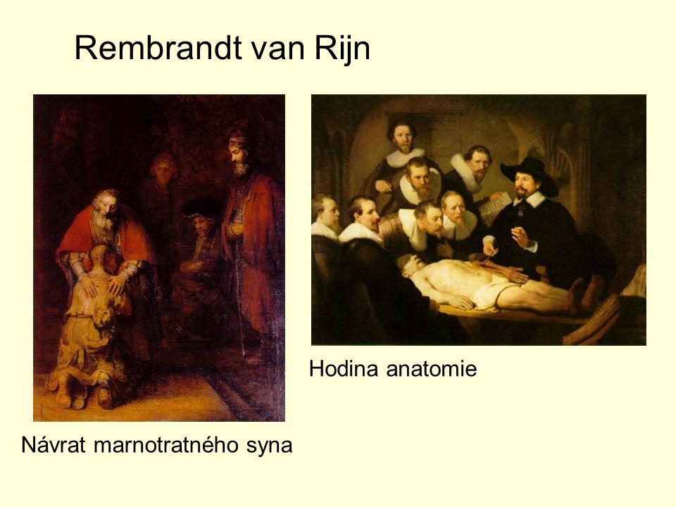 Rembrandt van Rijn Návrat marnotratného syna Hodina anatomie