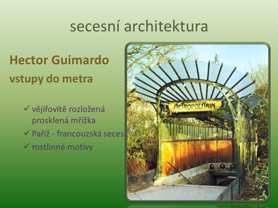 secesní architektura Joseph Maria Olbrich Budova Secese ve Vídni sestava geometrických objemů kupole vytvořená z kovových lístků rakouská secese