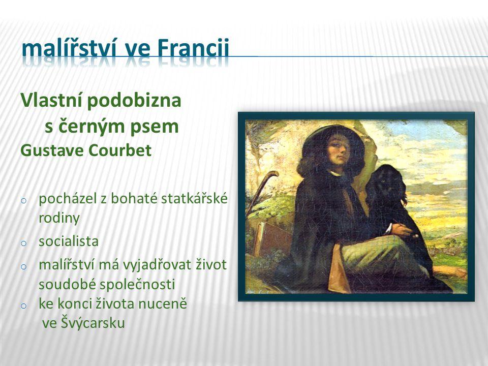"""Dobrý den, pane Courbete Gustave Courbet o """"světlé období o návštěva u milovníka umění o symbolické setkání bohatství s géniem o """"temné období – Pohřeb v Ornansu (smuteční výjev)"""