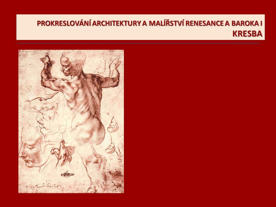 Božské umění kresby V kresbách si Michelangelo promýšlel první nápady, dělal si i detailní studie lidské anatomie, které pak jako pomůcku použil v malbách a sochách a svým zákazníkům pomocí kresebných skic naznačoval podobu budoucích projektů, ať už to byl náhrobek pro papeže Julia II.