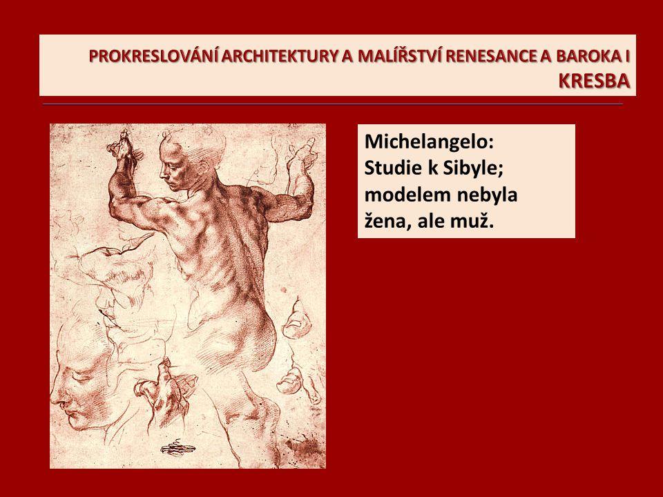 Michelangelova kresba Piety z pozdního období